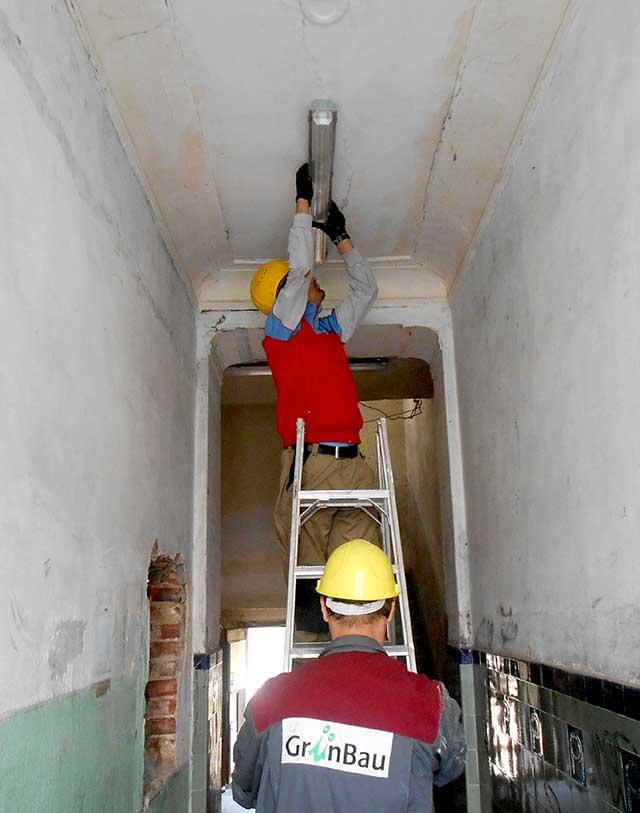 Aktiv statt passiv - Renovierungsarbeit
