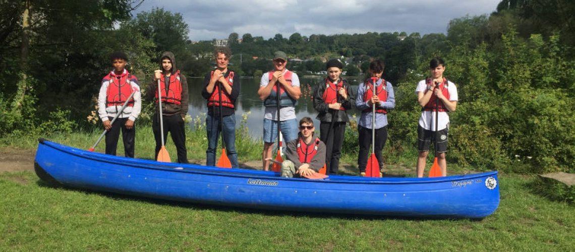 Die Teilnehmer der Kanu-Tour
